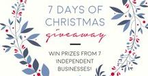 7 DAYS OF XMAS GIVEAWAY / 7 days of Christmas giveaway with prizes from small independent businesses! Click through and enter using the Gleam widget. Rolling giveaway - 1 new prize every day for 7 days! All giveaways end by December 14th.