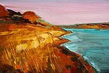 My Landscapes / Landscapes and abstracted landscapes in oil. I love to experiment!