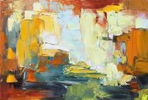 My Abstractions / I paint a range of abstractions, from contemporary simplified landscapes to abstract expressionism where my heart simply explores. All good!