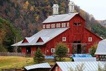 Barns, Barns and More Barns...I love old barns / by Teri Redford
