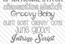 fonts & typography / by Erin Rose Shaeffer