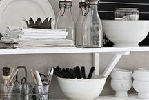 Kitchen /// Küche / Einrichtungs- und Dekoideen für die Küche, Küchenplanung, skandinavischer Landhausstil Scandinavian Design, White living,