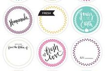Crafts - Labels / Printable labels for all kinds of home projects and crafts.