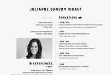 Design | Resume + Portfolio / Inspiration, Bewerbung
