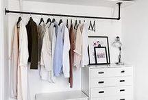 Closet /// Kleiderschrank / Walk in Closet, Wardrobe Begehbare Kleiderschränke und Kleiderschrank Organisation