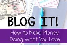 Making a Full Time Income Through Blogging / Did you know that you can make money blogging? These pins highlight a variety of ways that you can work towards a full time income from home as a blogger.  2dorksinlove.com
