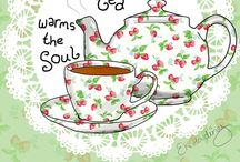 Tea for two / A nice cup of tea / by Sandra Arnold