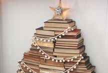 Book Trees / Celebrate this holiday by making your own book tree.