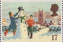 Christmas stamps / Christmas postage stamps of Britain
