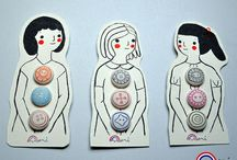Button Up / Buttons on beautiful cards