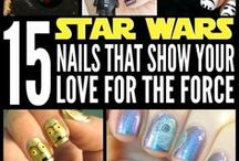 Geek Nails / Let people know your favorite fandoms by showing off your geeky nails.