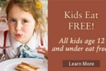 Kids Eat Free at Hotels Too! / Traveling? Take a peek at hotels that offer deals for families with children. Visit OutToEatWithKids.com for stand alone kids' specials across the country.