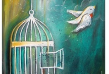 Bird Cage Fettish / Bird free cages with open doors - symbol of leaving the cage and flying free / by Anastasia Riversleigh