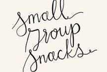 Small Group Snacks / Yummy snacks, drinks, pot lucks to bring to your small group, Bible study, or church Sunday school.