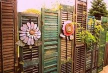 Shutters / Using shutters to decorate your home and garden