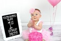 1st Birthday Party / Sophie's first birthday bash! A collection of decoration, invitation, cake and party ideas.
