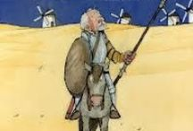 Don Quichot (groep 7-8) / Deze dramales van DramaOnline voor groep 7/8 gaat over Don Quichot, het beroemde boek van Cervantes. De leerlingen maken kennis met deze dolende ridder door middel van drie van zijn bekendste avonturen. Ze schrijven en spelen zelf een dialoog tussen Sancho en Don Quichot en ontdekken op welke manier je de essentie van een verhaal kunt vinden. (http://www.dramaonline.nl/nieuws/nieuwe-dramales-don-quichot)