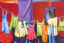 Dame Washalot / I have always loved watching laundry fluttering in the breeze and love seeing it hung imaginatively in various countries I have travelled. / by Anastasia Riversleigh