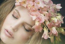 Wedding Hairstyle / Wedding Hairdo Flowers in Hair