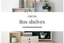 TREND: Box shelves