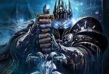 Warcraft / El universo de Warcraft está ambientado en una fantasía épica moderna propia de El Señor de los Anillos o Dungeons & Dragons y tiene su inspiración inicial en los juegos del universo de Warhammer Fantasy, representando combates entre el bando de los humanos y el de los orcos, los cuales son seres fantásticos adaptados de la mitología clásica europea a la fantasía actual, pero con una concepción y estilos muy propios.