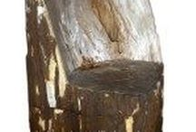 petrified wood chair / petrified wood chair