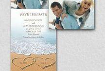 Tropical / Beach Wedding Theme / Trendy ideas related to having a beach wedding theme - from your bouquet, cake, flowers & decorations to beach wedding invitations - www.PrintedCreationsWeddingStore.com. #beachwedding
