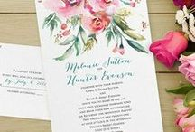 Pink Wedding Theme / All ideas related to having a pink wedding theme - from your bouquet, cake, flowers & decorations to pink wedding invitations - www.PrintedCreationsWeddingStore.com. #pinkwedding