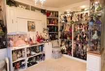 """The Doll Room and Studio / Photos of doll collection display and photography studio used for blog """" Inside The Fashion Doll Studio"""""""