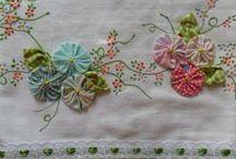 Needlework stitches