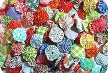 Quilts/ yo yo's & hexagans