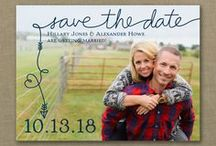 Save the Dates - Cards & Magnets / Announce your wedding date in style with unique ideas for Save the Date Wedding invitations - www.PrintedCreationsWeddingStore.com/save_the_date_card.asp.  #savethedates