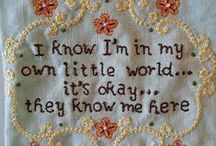 Needlework sayings