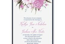 Purple Wedding Theme / Inspirational ideas for planning a purple wedding theme - from your bouquet, cake, flowers & decorations to purple wedding invitations - www.PrintedCreationsWeddingStore.com.  #purplewedding