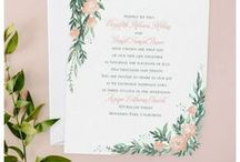 Coral Wedding Theme / Inspirational ideas for planning a coral wedding theme - from your bouquet, cake, flowers & decorations to coral wedding invitations - www.PrintedCreationsWeddingStore.com.  #coralwedding