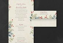 Winter Wedding Theme / All ideas related to a winter wedding theme - from your bouquet, cake, flowers & decorations to winter wedding invitations - www.PrintedCreationsWeddingStore.com. #winterwedding