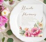 Spring Wedding / Fresh ideas related to having a spring wedding - from your bouquet, cake, flowers & decorations to spring wedding invitations - www.PrintedCreationsWeddingStore.com. #springwedding