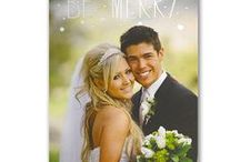 Celebrating 1st Married Christmas / Unique ideas for celebrating your 1st married Christmas including newlywed Christmas cards to share your wedding photo.