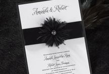 Feather Wedding / All ideas related to having a feather wedding theme - from your bouquet, cake, flowers & decorations to feathers wedding invitations - www.PrintedCreationsWeddingStore.com. #featherwedding