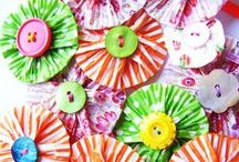 Cupcake Liners / Crafts, Art, and Projects made from Cupcake Liners!