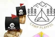 Camp Playful / Inspiration for Summer fun - using common household items to make yours and the kids summer FABULOUS!