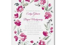 Watercolor Wedding Trends / Inspirational ideas for featuring the trend of watercolor into your wedding planning including watercolor wedding invitations.   www.PrintedCreationsWeddingStore.com