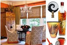 """Pantone 2012 Tangerine Tango / Interior Design Ideas to help incorporate the Pantone Color of the Year, Tangerine Tango into your Home Decorating Plans. This Palette we call """"The Tiger Lily"""". Visit our Blog for helpful tips and articles at http://thedesigndivablog.com"""