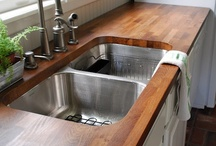 Kitchens/ Kitchen ideas / We're remodeling so we're looking for ideas... centered around a BIG 1920-1930 cast iron double winged, double sink. Wish us Luck! / by Marie Prezeau