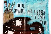 Mixed media art / Ideas and examples for art journaling