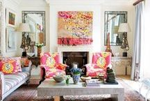 A Pop of Color / Ideas to add a pop of color to a room