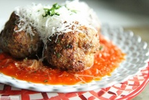Meatballs / Love 'em in all flavors & sizes! Vegan, beef, chicken, pork....
