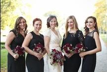 BLACK AND WHITE WEDDING / Monochrome black and white wedding