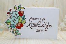 Cards...Floral Outline Stamps