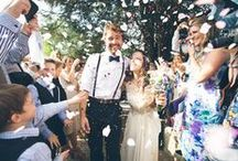 CONFETTI MADNESS / Everyone needs confetti at their wedding, heres the stunning images of to prove it!